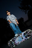 Young skate boarder