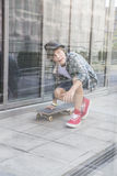 Young skateboaerder Stock Images