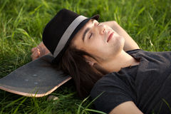 Young skateboarder Royalty Free Stock Photos
