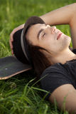 Young skateboarder Stock Images