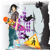 young - skateboardist Royalty Free Stock Image