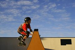 Young Skater. Caught in the air skater Royalty Free Stock Photos