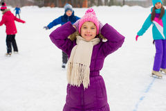 Young skater girl on the ice Stock Photo