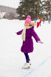 Young skater girl on the ice Royalty Free Stock Photography