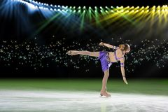Performance of young skaters, ice show Royalty Free Stock Photography
