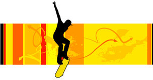 Young skater vector Royalty Free Stock Image