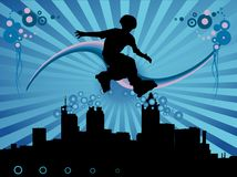 Young skater vector Royalty Free Stock Photo