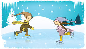 Young skaters Royalty Free Stock Images