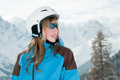 Young skier Stock Images