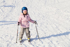 The young skier Royalty Free Stock Photo