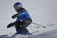 Young skier Stock Photography