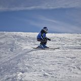 Young skier stock photo