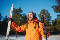 Young skier Royalty Free Stock Photography