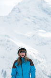 Young skier portrait Royalty Free Stock Photos