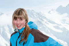 Young skier portrait Royalty Free Stock Images