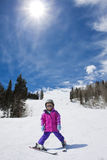 Young Skier at a Ski Resort Stock Photos