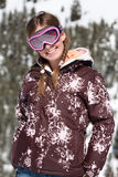 Young skier smiling Stock Images