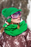 Young skier smiling Royalty Free Stock Photo