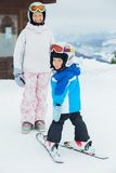 Young skiers. Stock Images