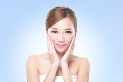 Young skin care woman face Stock Photo
