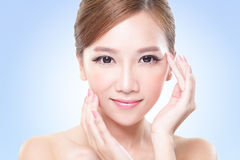 Young skin care woman face Royalty Free Stock Photos