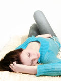 Young sleeping woman Stock Photography