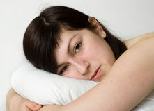 Young sleeping woman Royalty Free Stock Photos