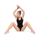Young slender gymnastic woman Stock Images