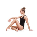 Young slender gymnastic woman royalty free stock images