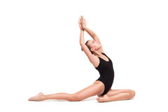 Young slender gymnastic woman Royalty Free Stock Photography