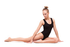 Young slender gymnastic woman Royalty Free Stock Photos