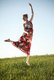 Jumping beauty Royalty Free Stock Photography