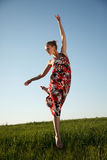 Jumping beauty Royalty Free Stock Image