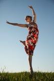 Jumping beauty Royalty Free Stock Image