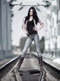 Young slim woman Royalty Free Stock Images