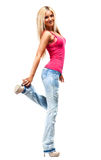 Young slim woman Royalty Free Stock Image