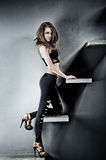 Young slim woman Stock Photography