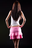 Young slim woman backside view Royalty Free Stock Photos