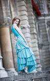 Young slim woman in dress Royalty Free Stock Image