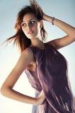 Young slim woman portrait Stock Image