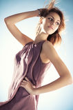 Young slim woman portrait Royalty Free Stock Photography