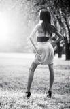 Young slim woman posing Stock Photos