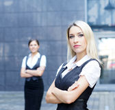 A young and smart blond Caucasian businesswoman Royalty Free Stock Image