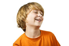 Young smart boy has fun Royalty Free Stock Photo