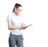 A young and smart businesswoman in formal clothes Stock Photo