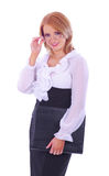 A young and smart businesswoman in formal clothes Royalty Free Stock Photo