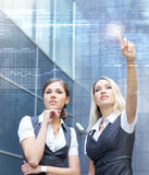 Young and smart businesswomen in formal clothes Royalty Free Stock Images