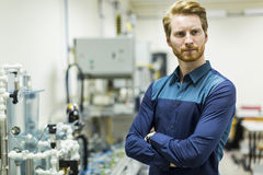 Young smart student portrait in a lab Stock Photography