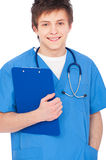 Young smiley nurse boy Stock Photography
