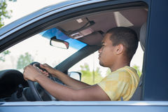 Young Smiling African American Male Driver Stock Photo